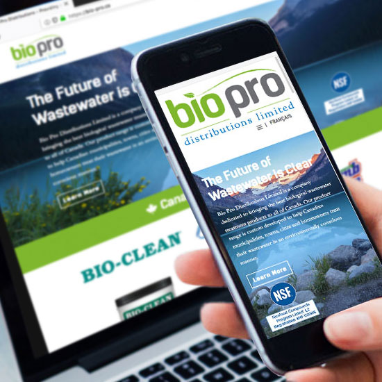 Bio Pro Distributions Website