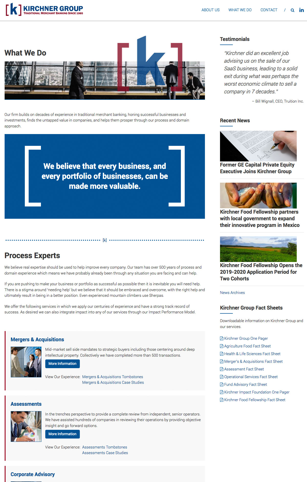 Kirchner Group Content Page